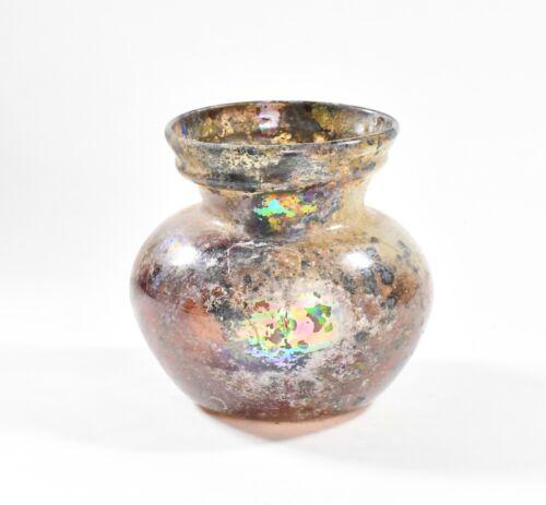 An Ancient Roman Iridescent Glass Jar