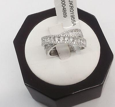 14kt White Gold Criss-Cross Diamond 1.25tcw Ladies Ring (sizw 6.5)