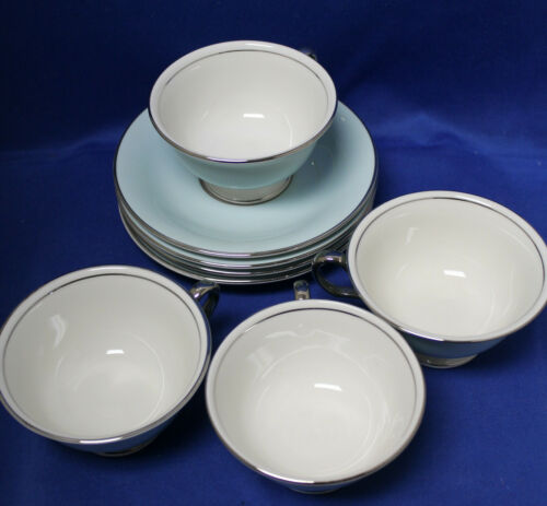 Castleton Turquoise - Set of 4 Cups & Saucers