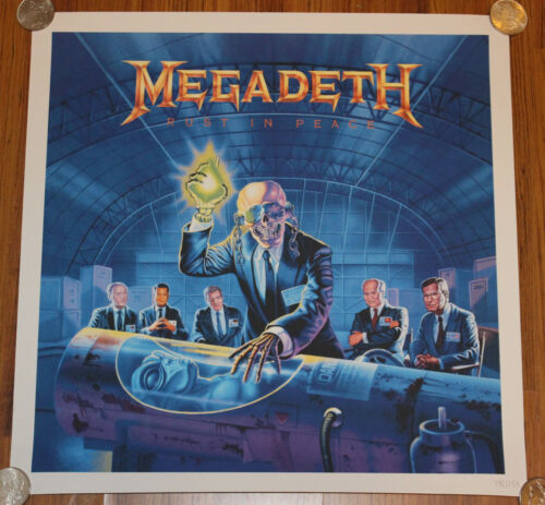 Megadeth - Rust In Peace 30th Anniversary Lithograph Official 250 Ltd. Edition