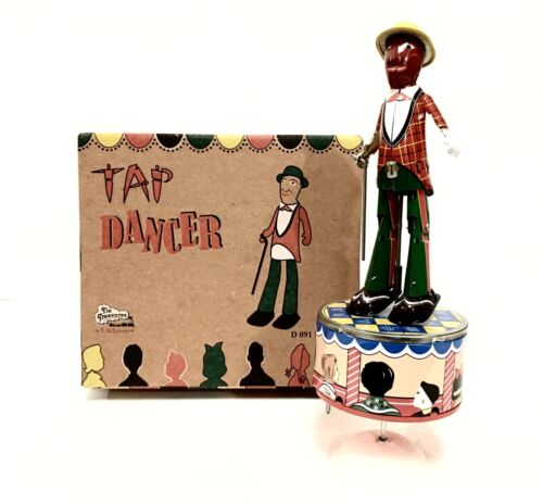 BRAND NEW TIN TREASURES TAP DANCER WIND UP TIN TOY MINT