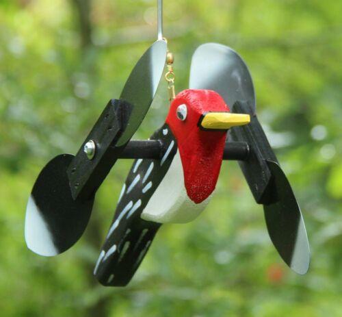 Woodpecker Mini Whirligigs Whirligig Windmill Yard Art Hand made from wood