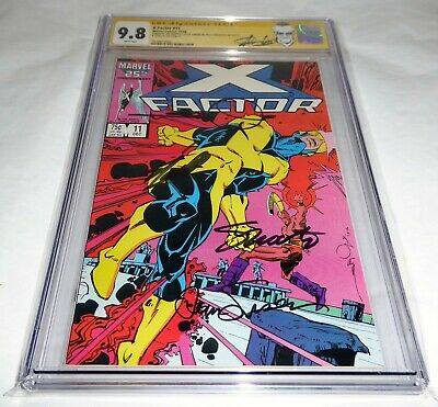X-Factor #11 CGC SS 9.8 4x Signature Autograph STAN LEE Death Berzerker BlowHard