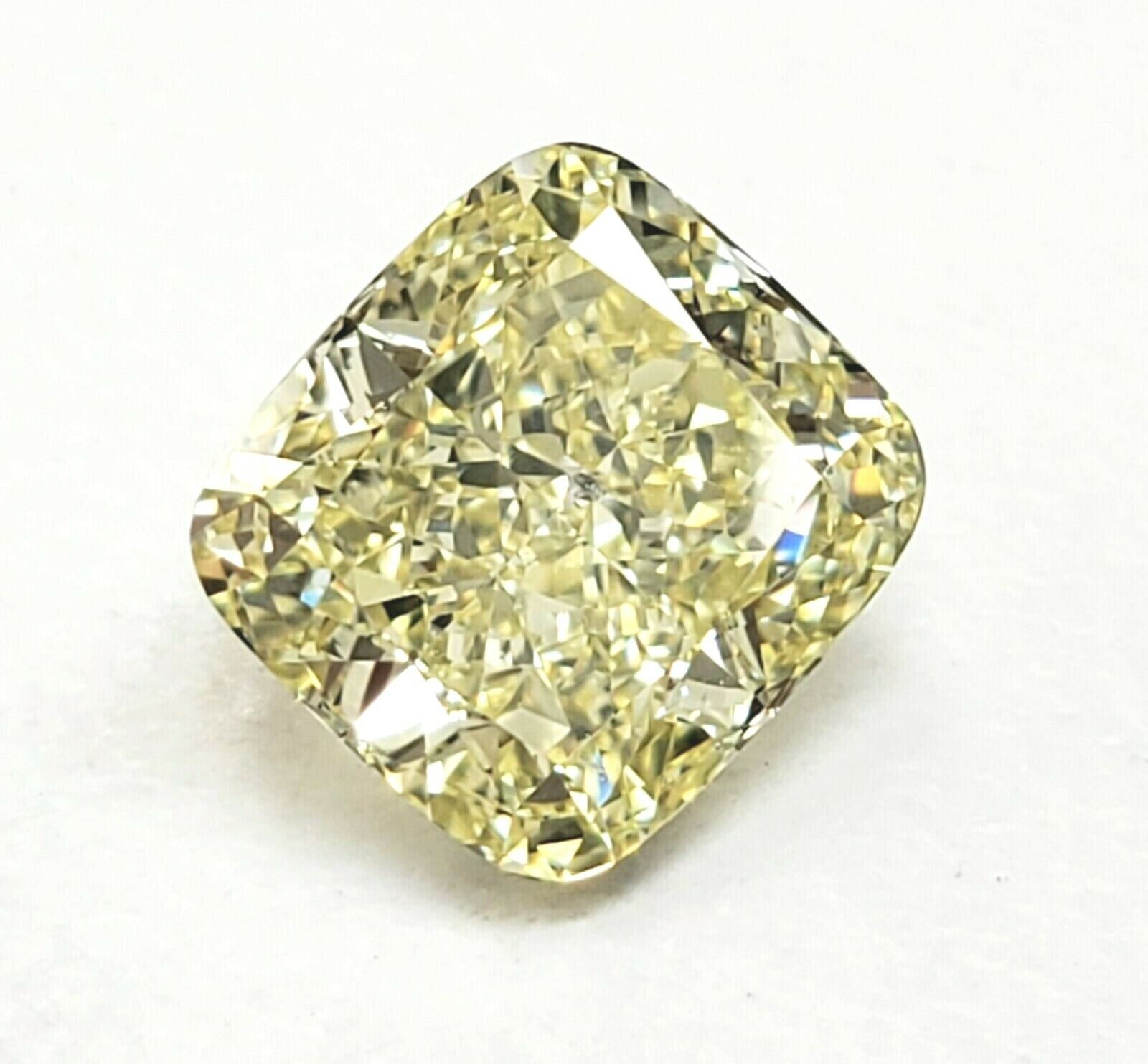 Fancy Yellow Diamond 2 Carat Natural Loose Cushion Cut GIA Certified SI2 Clarity