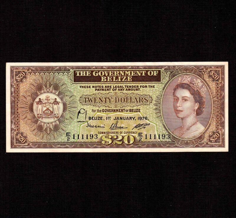 Belize 20 Dollars 1976 P-37c * VF++ * Queen Elizabeth *