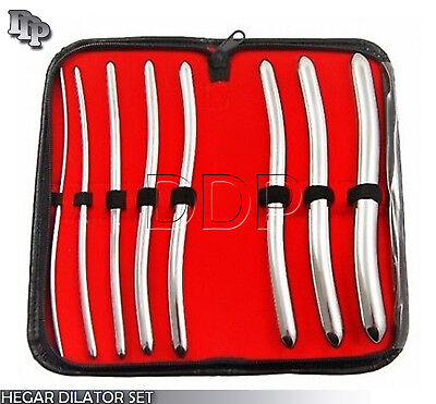 Hegar Dilator Set Uterine Urethral Diagnostic Surgical Sounds 8pcs