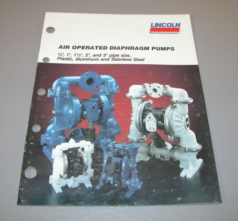 1989 Lincoln Air Operated Diaphragm Pumps Catalog 440625  B3