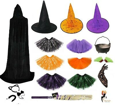 WITCH Halloween Costume Adult Kids FANCY DRESS ACCESSORIES Mask Accessory Lot - Witch Fancy Dress Accessories