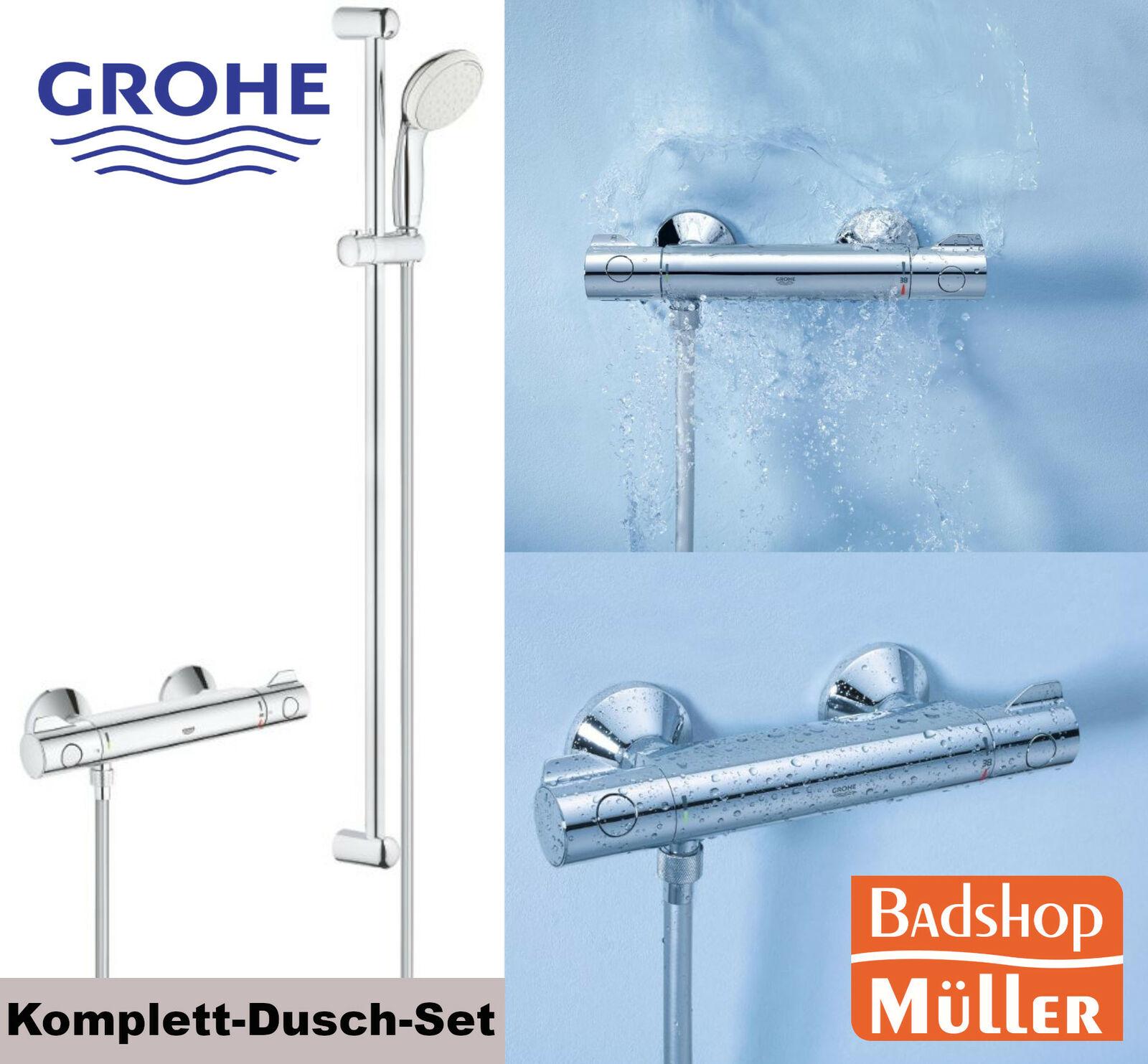 GROHE Grohtherm 800 Komplettset Thermostat Dusche Handbrause 900 mm 34566001