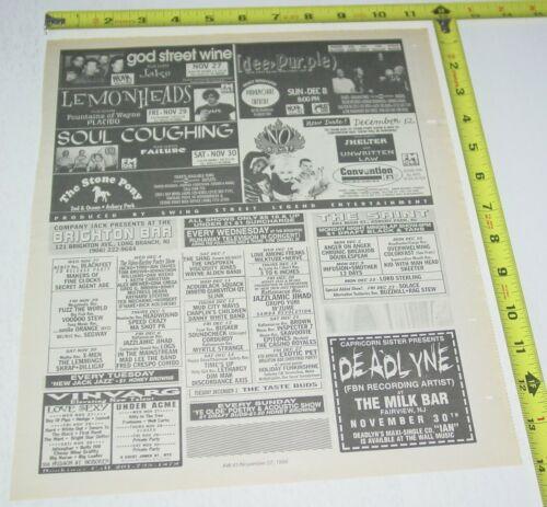 No Doubt Gwen Stefani Concert AD Advert 1996 Tour Convention Hall Asbury  NJ