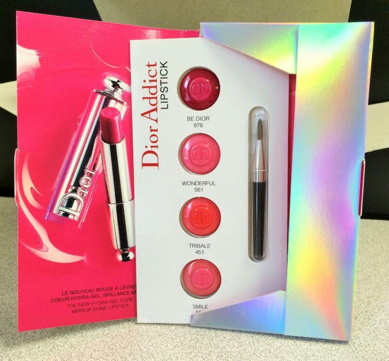 Dior Addict Hydra-Gel Core Mirror Shine Lipstick Quad .01 OZ Sample- BOX OF 10!