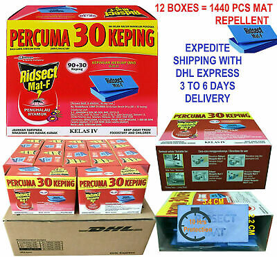 12 BOX Mosquito Repellent 10 Hours Mat Tablet Insect Refill Thermacell 1440 Piec