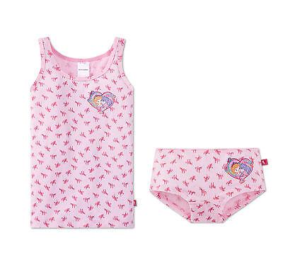 Schiesser Set Garnitur Unterhemd + Unterhose Panty Mädchen Lillifee Einhorn NEU