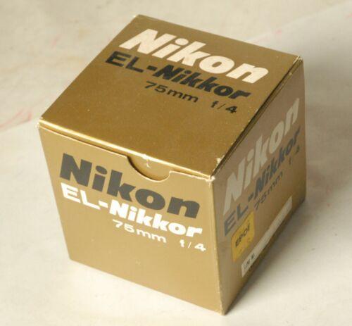 Nikon El Nikkor 75mm f4 enlarging lens