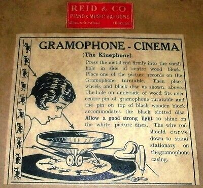 The Kinephone Gramophone cinema toy novelty for 78 RPM phonograph record players