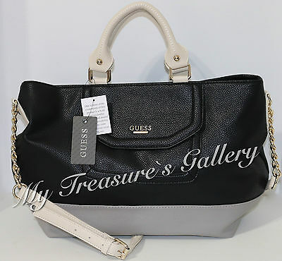 NEW Guess Vanessa Satchel Handbag Purse Black Multi NWT