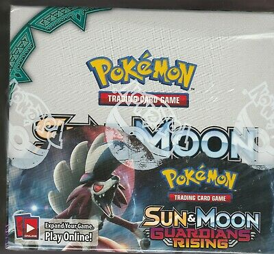 Pokemon TCG Sun And The Moon Guardian Rising Booster Sealed Box 36 packs ENGLISH