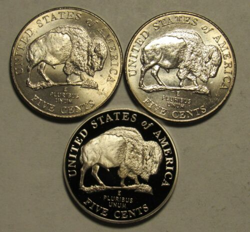 2005 American Bison P,D&S Jefferson Nickels From US Mint Rolls and Proof Sets