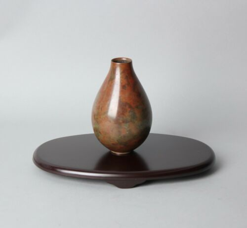 Beautiful Japanese Signed Bronze Vase  by a Nitten Artist BB57