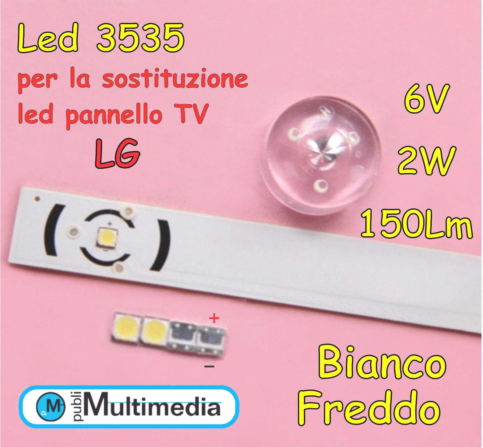 5 Led 3535 LATWT391RZLZK per ricambio retroilluminazione TV LG 2W 150LM 6V