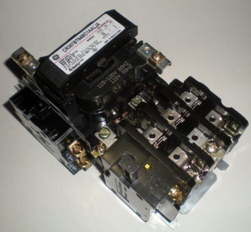 GENERAL ELECTRIC MOTOR STARTER CONTACTOR OVERLOAD CR306B002 CR387BT94MC1AALJA