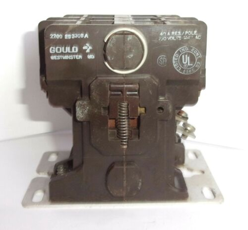 GOULD ITE SIEMENS 2200 EB330BA 208-240VOLT 3 POLE 40 AMP CONTACTOR  LIGHTLY USED