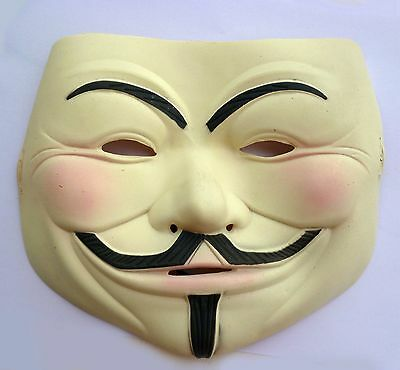 Latex V FOR VENDETTA Anonymous Guy Fawkes Halloween Masquerade Mask - Celebrities For Halloween