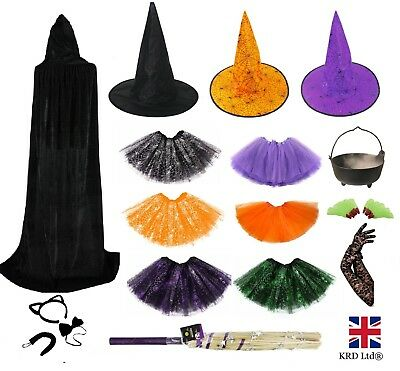 WITCH FANCY DRESS ACCESSORIES Adult Kids Halloween Costume Mask Accessory Lot UK ()