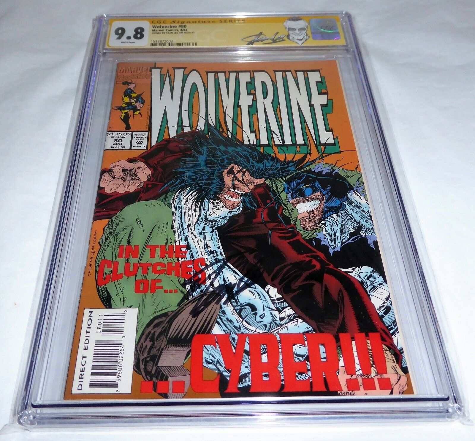 Wolverine #80 CGC SS 9.8 Signature Autograph STAN LEE Cyber Appearance Comic