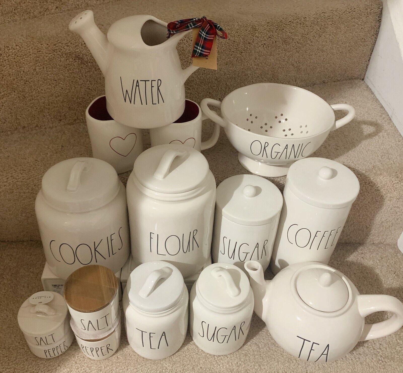 NEW RAE DUNN CANISTER COFFEE TEA SUGAR FLOUR COOKIES SALE/PE