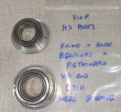 Emco Maximat V10-p Lathe Headstock Parts Front Rear Bearings Retainers C31u