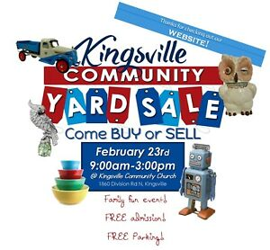 Kingsville Community YARD SALE