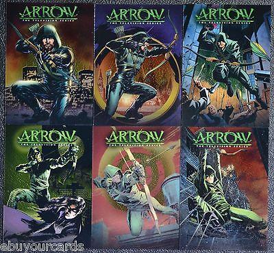 Cryptozoic Arrow Comic Book Acetate Covers Complete Set CC1-CC6 Trading Cards DC