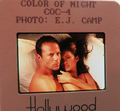 Color Of Night Cast Bruce Willis Rub N Blades Lesley Ann Warren Original Slide 1