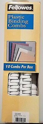 Fellowes 52380 Plastic Binding Combs 1 200 Sheet Capacity 10 Pack White