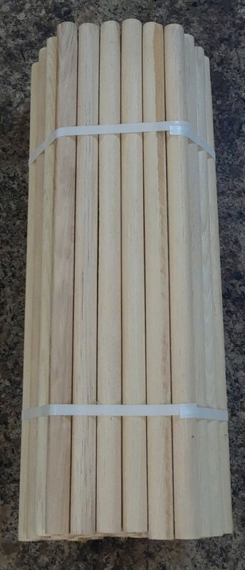 "3/4"" Hickory Dowels Ideal for Craft 18+"" Long - Package of 50 - Seconds"