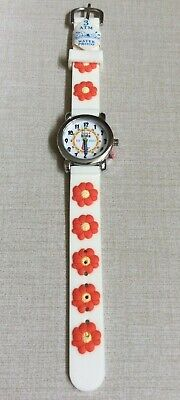 TIME 4 KIDS Girls Watch White Dial Easy to Help Teach Child Time White Band New!](Blackbeard Band)