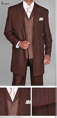 Herren Einzigartig Designiert,4 Knöpfe Zoot Anzug,mit Passenden Weste - Herren Zoot Anzüge