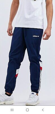 NEW RETRO ADIDAS BR-8 ORIGINALS WOVEN BOTTOMS JOGGERS TRACK PANT 3 STRIPE NAVY