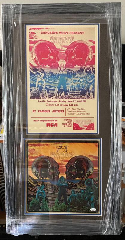 John Kay STEPPENWOLF Signed Autographed #7 Album Poster Custom Ensemble Jsa Coa