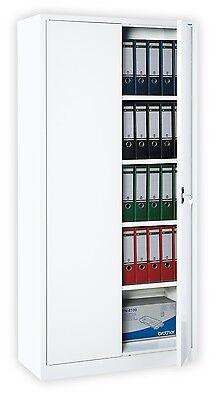 Swing door cabinet Steel Storage Office filling white 180x80 / 530337