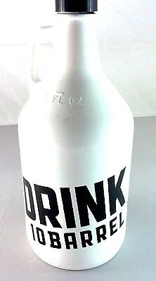 10 Barrell Brewing - 64oz White Glass Beer Bottle Growler - New!