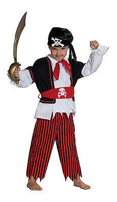 Piraten Kostüm für Jungen 3-teilig Kinder Kostüm Fasching