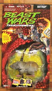 TRANSFORMERS BEAST WARS Rattrap MOSC NEW RATTRAP ROCK BUBBLE