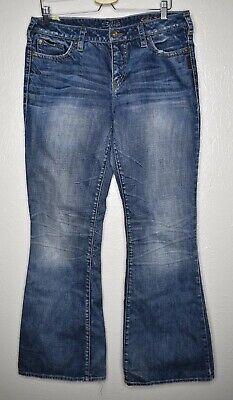 Silver Jeans Suki Flare Bootcut Denim Womens Size 34x33 Medium - Bootcut Flare Denim Jeans