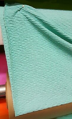 """39""""W Pistachio Asian Bamboo Texture Lycra Spandex Tricot 4-Way Stretch Fabric 1Y"""