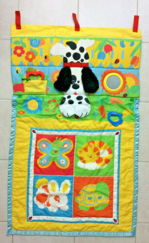 Fisher Price Fold N Go Baby Activity Play Mat 1987 Dog Bunny Cat Vintage