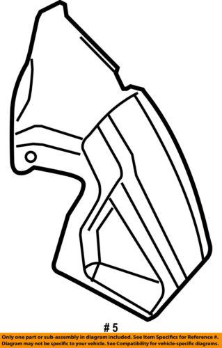Jeep Chrysler Oem Rear Fender Liner Splash Shield Right 55156618af