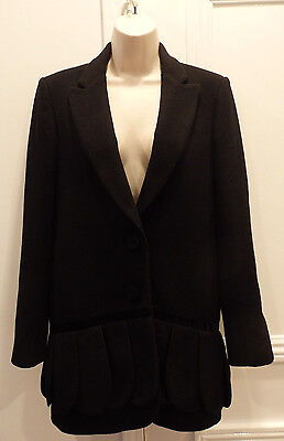 TIMO WEILAND COAT JACKET BLAZER WOOL BLACK SIZE MEDIUM LOOK MAKE AN OFFER!!!!!!! (Blazer Offer)