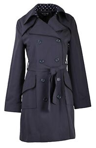COLLECTION LONDON - Womens Ladies BLACK or NAVY Smart Business Mac Trench Coat